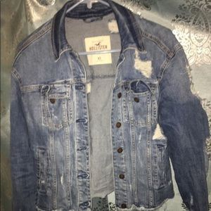 Distressed Hollister jeans jacket